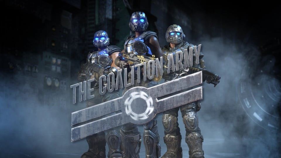 Gears of War 4 - Animated bumper for The Coalition Army (TCA), a Community endeavour to recognize top community content creators for Microsoft Studios' (The Coalition) Gears of War franchise. TCA members receive exclusive resources and opportunities direct from The Coalition to support your growth as a creator.  3D animation: Haiwei Hou