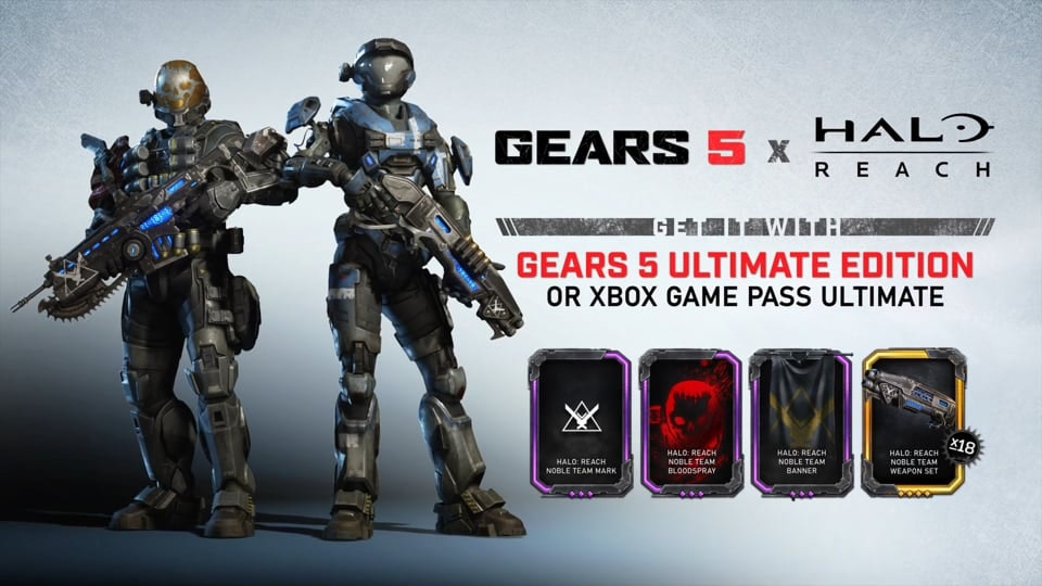 GEARS 5 - Promo showcasing the collaboration between Gears 5 and Halo Reach.