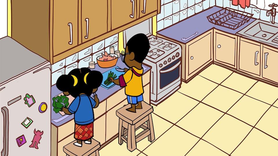 Adventures of Bena & Kena - Cūcū's Recipe - Kitchen