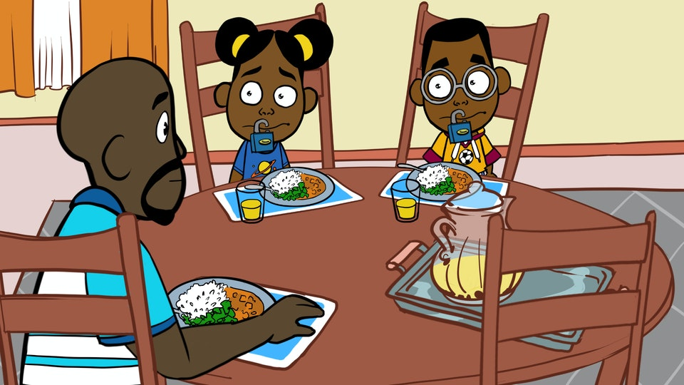 THE ADVENTURES OF BENA & KENA: Space Is The Place - Family Eating HD