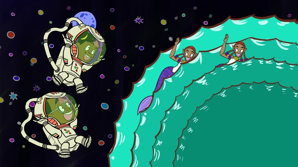 THE ADVENTURES OF BENA & KENA: Space Is The Place - Space Mermaids HD