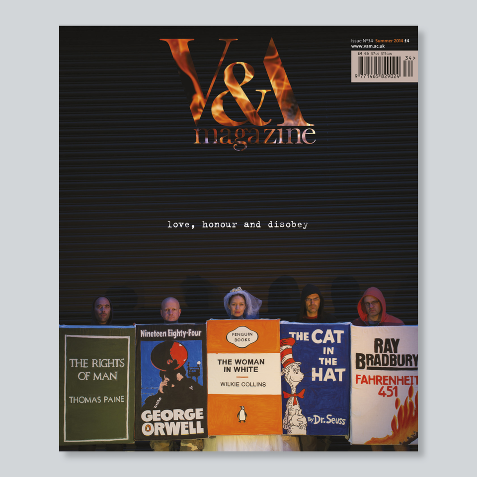 V&A Magazine - Cover photograph Luke Wolagiewicz. The Woman in White book bloc created for V&A Magazine by Polyp (polyp.org.uk) and Schlunke (eva-schlunke.com).