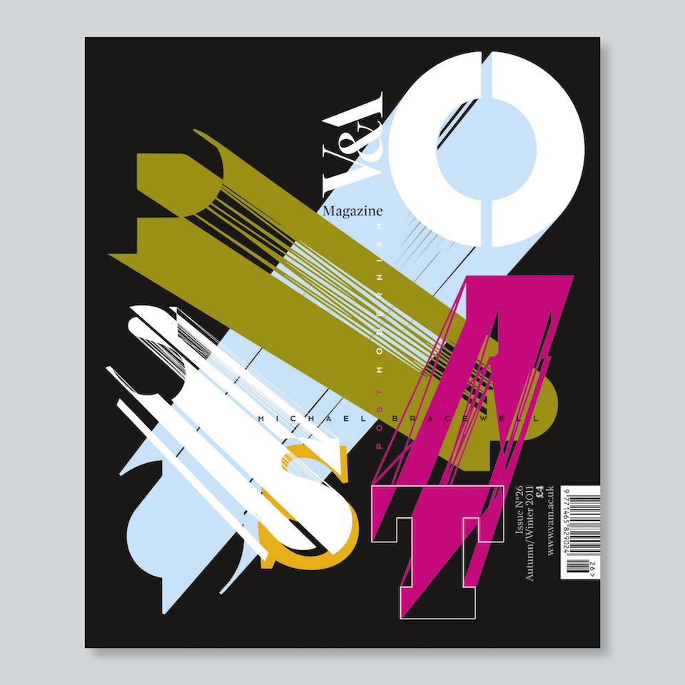 V&A Magazine - Cover design Neville Brody