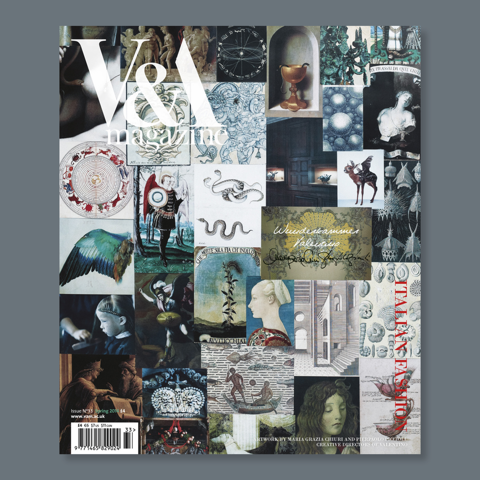 V&A Magazine - Cover artwork by Maria Grazia Chiuri and Pierpaolo Piccioli,  creative directors of Valentino