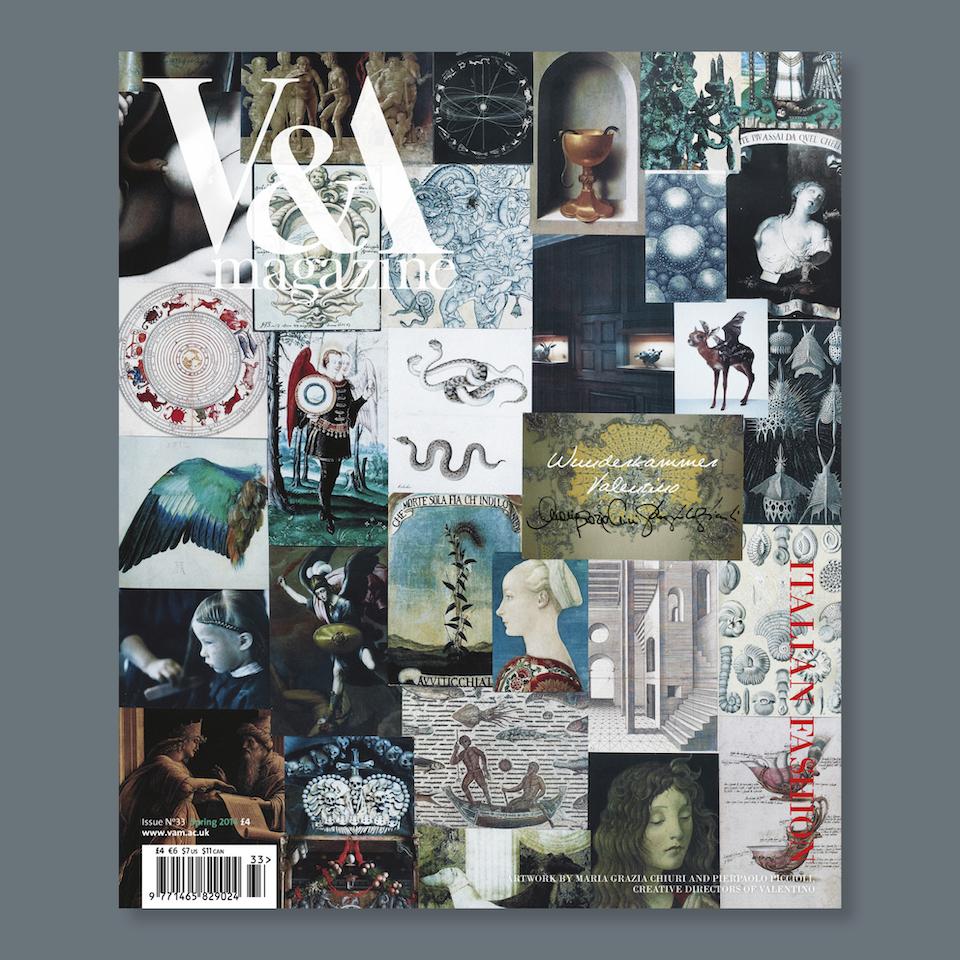 V&A Magazine - Cover artwork by Maria Grazia Chiuri and Pierpaolo Piccioli,  creative directors of Valentino
