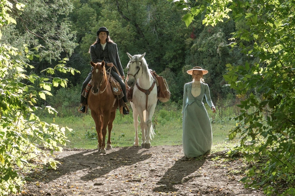 Woman Walks Ahead - Woman Walks Ahead Still Starring: Jessica Chastain, Michael Greyeyes, Chaske Spencer, Sam Rockwell