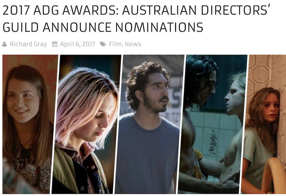 Nominated for best Commercial Director ADG