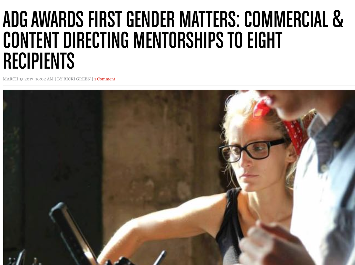 Screen Australia   Gender Matters Recipient