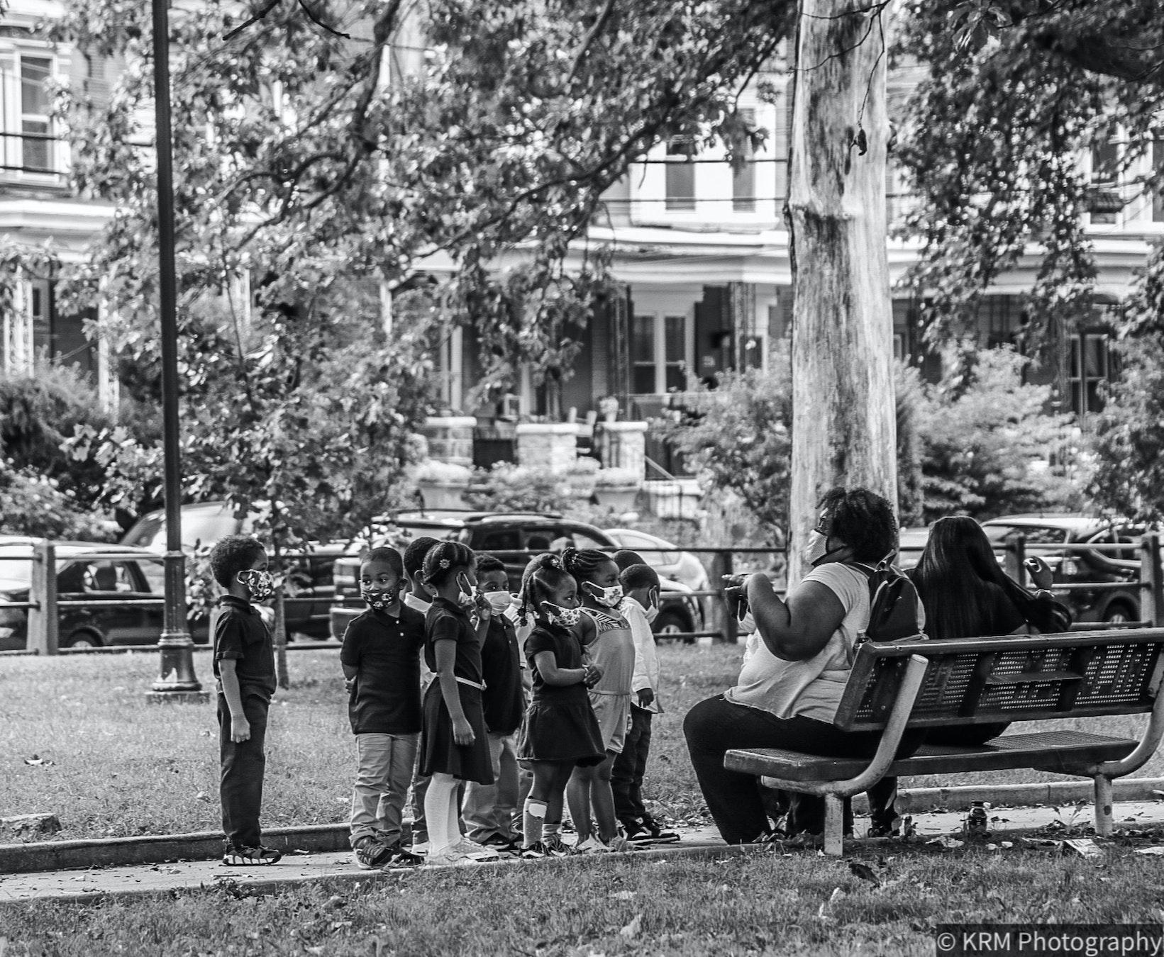 Children in Malcolm X Park  (West Philadelphia, 2020)