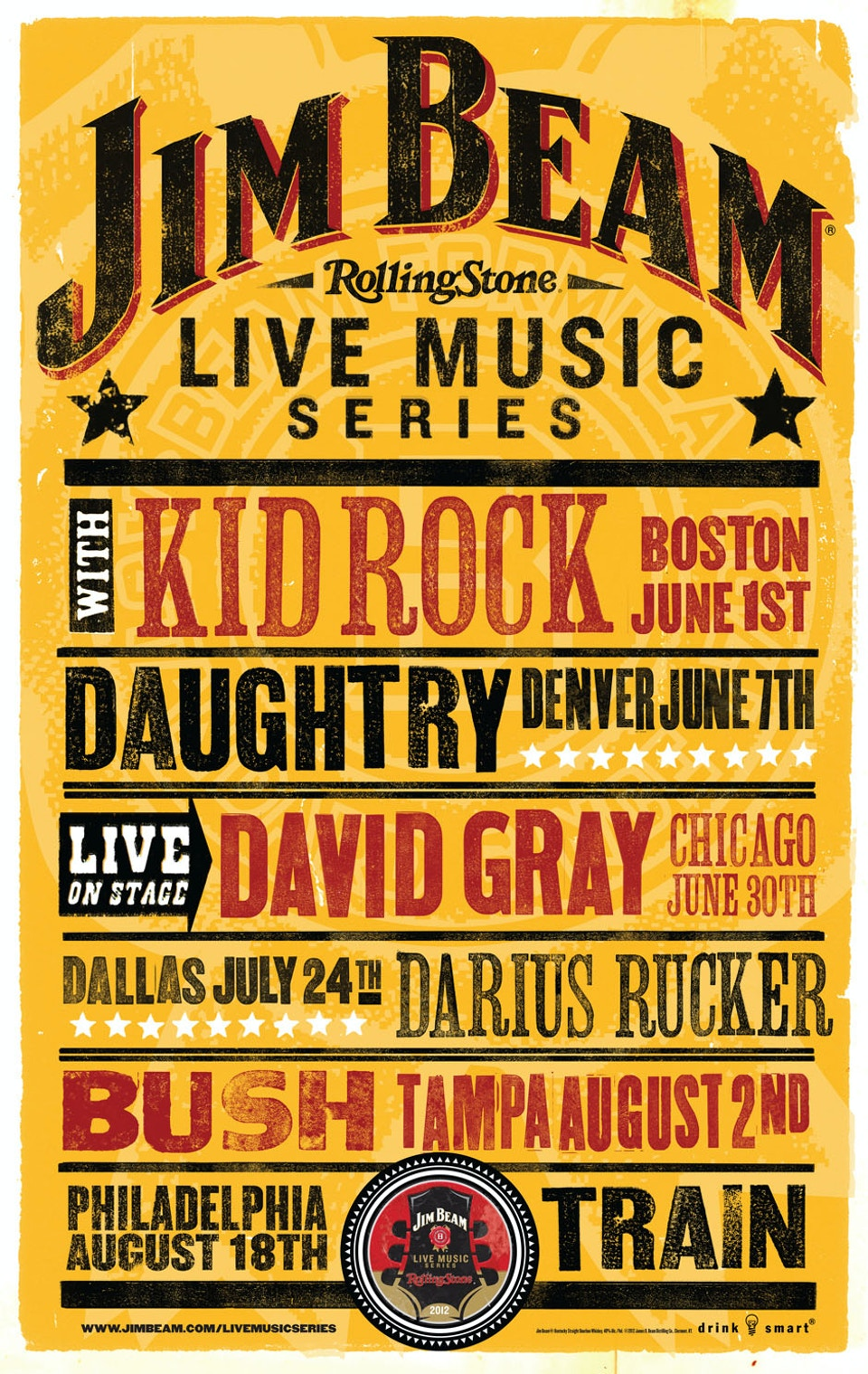 Jim Beam Concert Series Poster