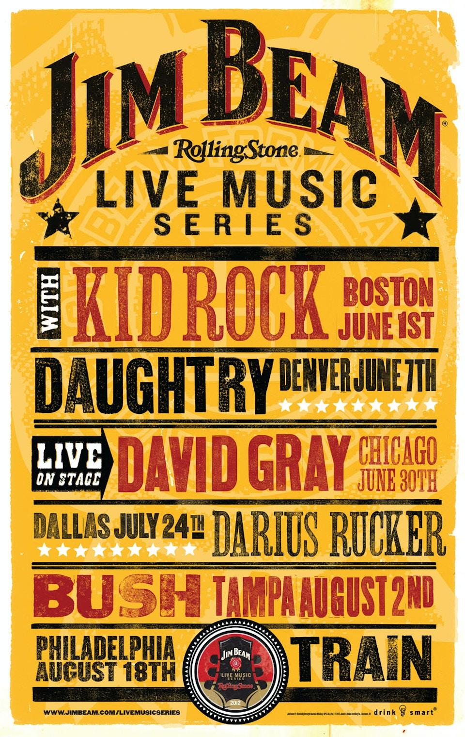 Jim Beam Concert Series Poster