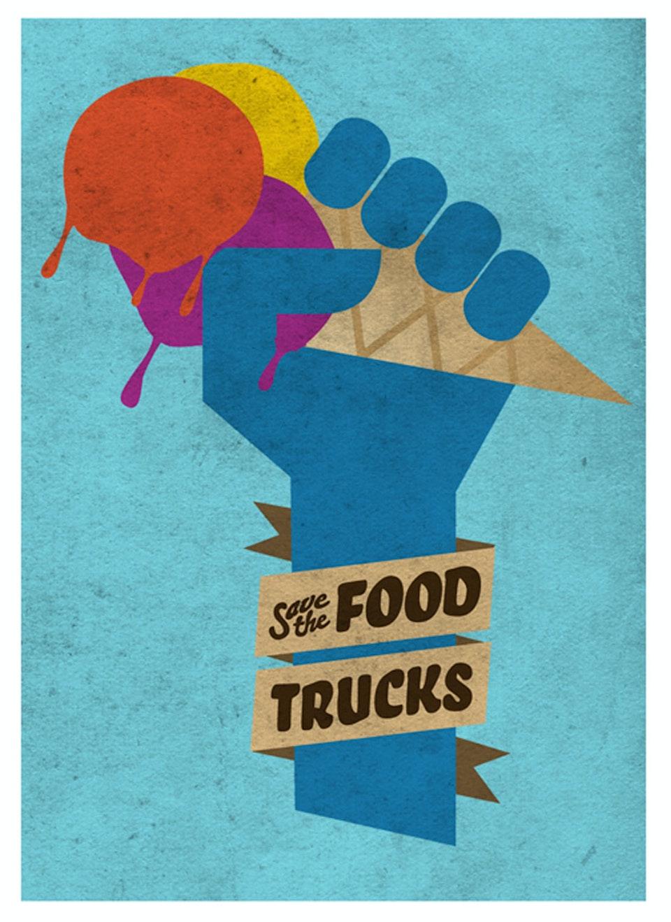 Save the Food Trucks - Postcard