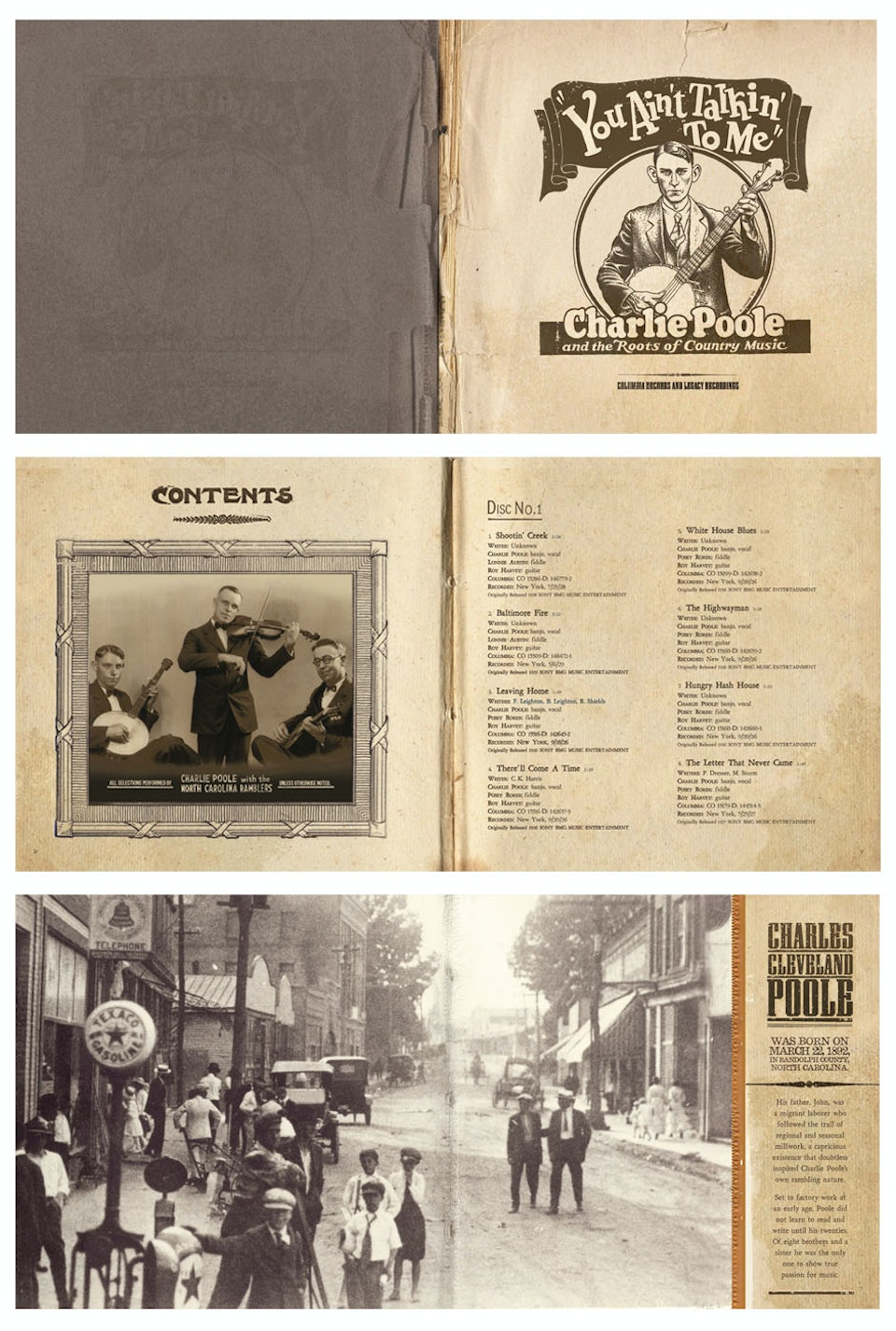 Grammy Nominated Charlie Poole You Ain't Talkin' To Me Box Set - Booklet spreads
