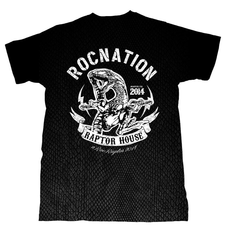 ROCNATION Raptor House SXSW tee