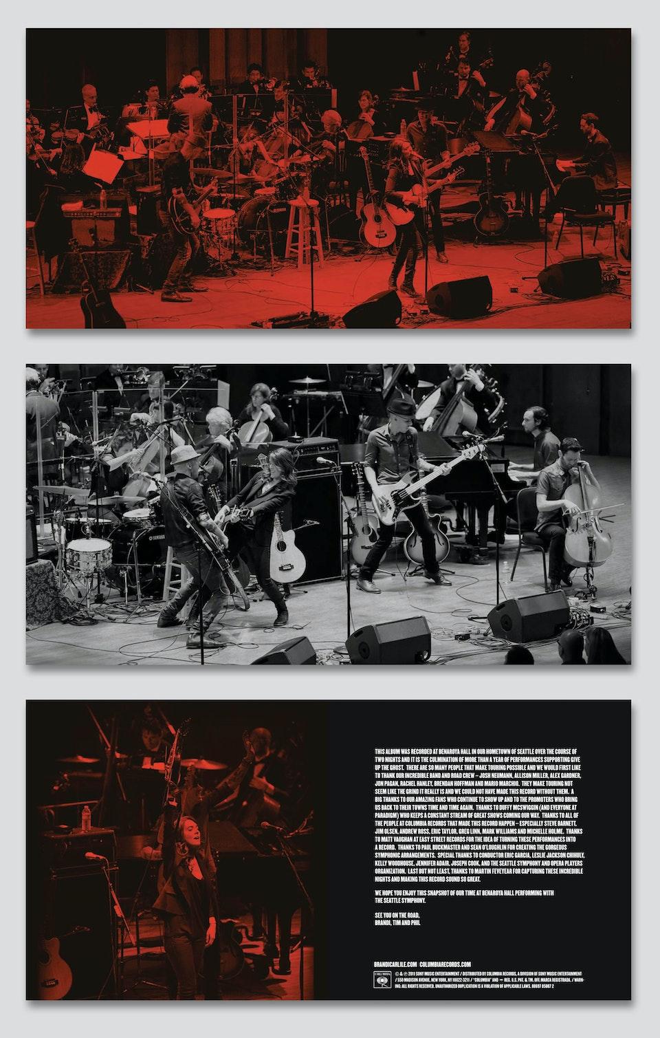 Live at Benaroya Hall - Booklet art