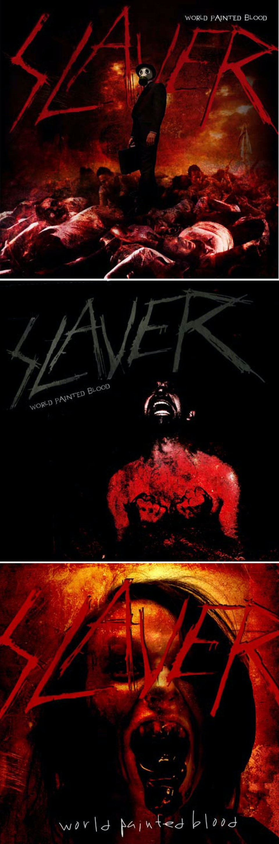 Slayer Christ Illusion - Cover comps for World Painted Blood