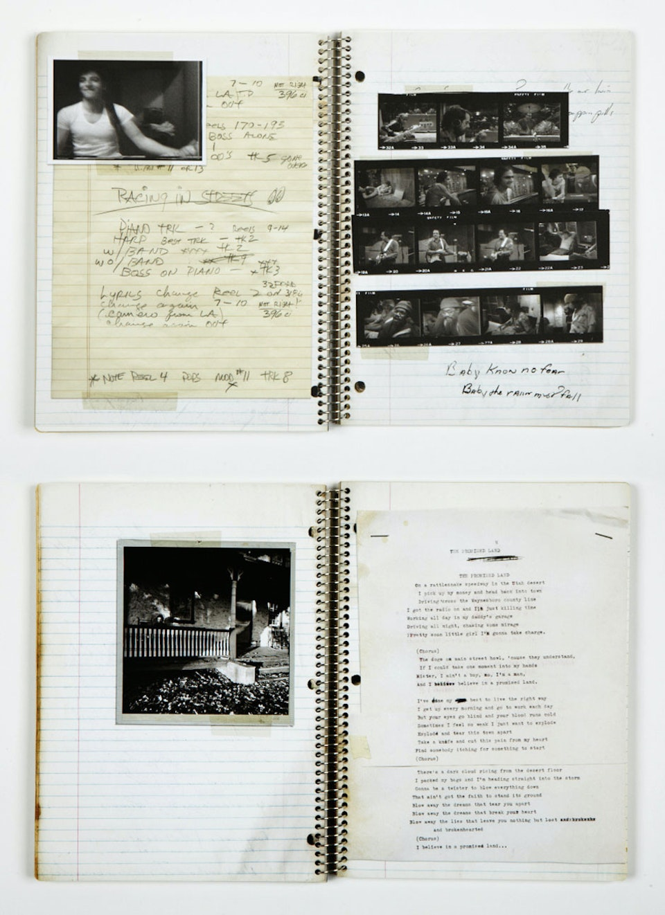 Grammy winning Darkness on the Edge of Town - Notebook spreads