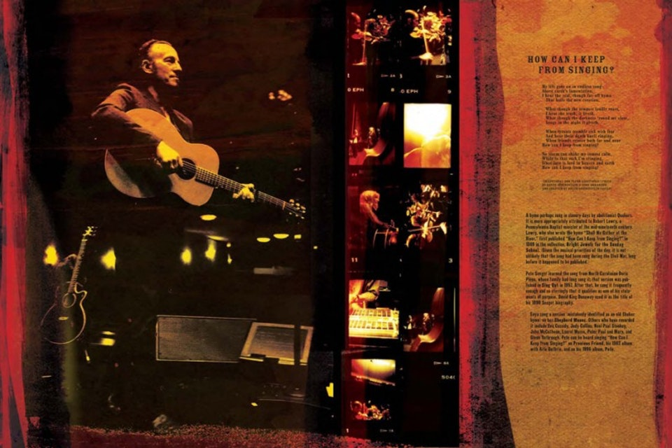Seeger Sessions Band Tour Book - Tour book spread