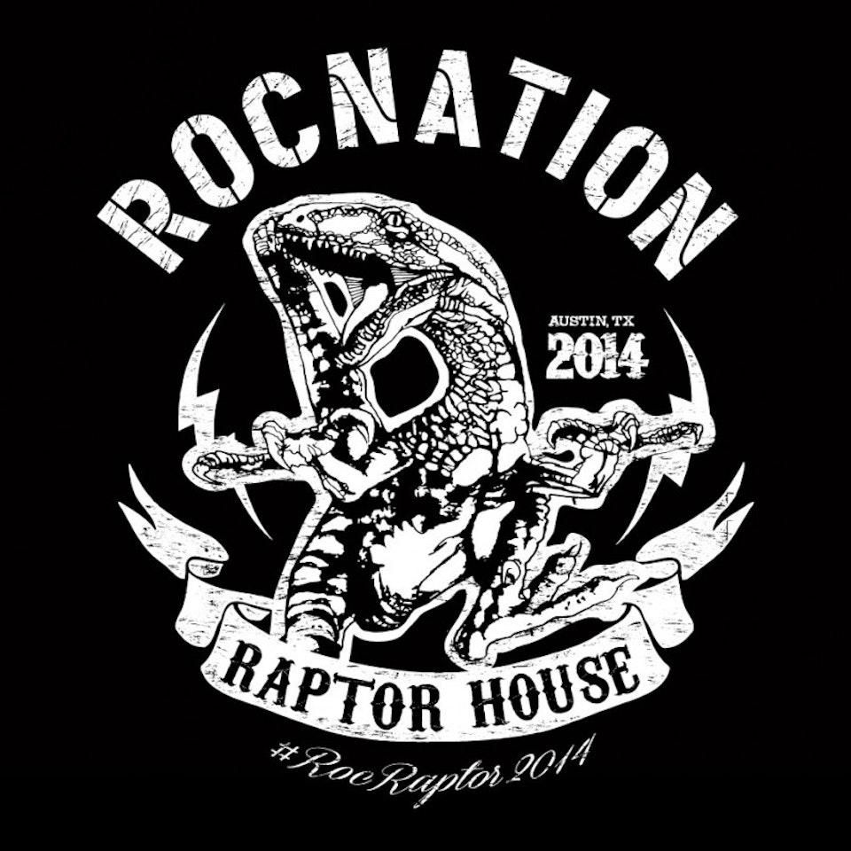 ROCNATION Raptor House SXSW tee - Custom vector graphic