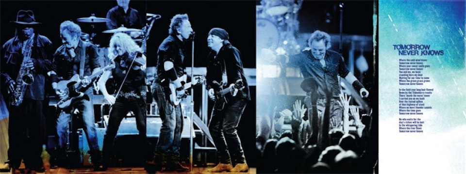 Working on a Dream Tour Book - Tour book spread