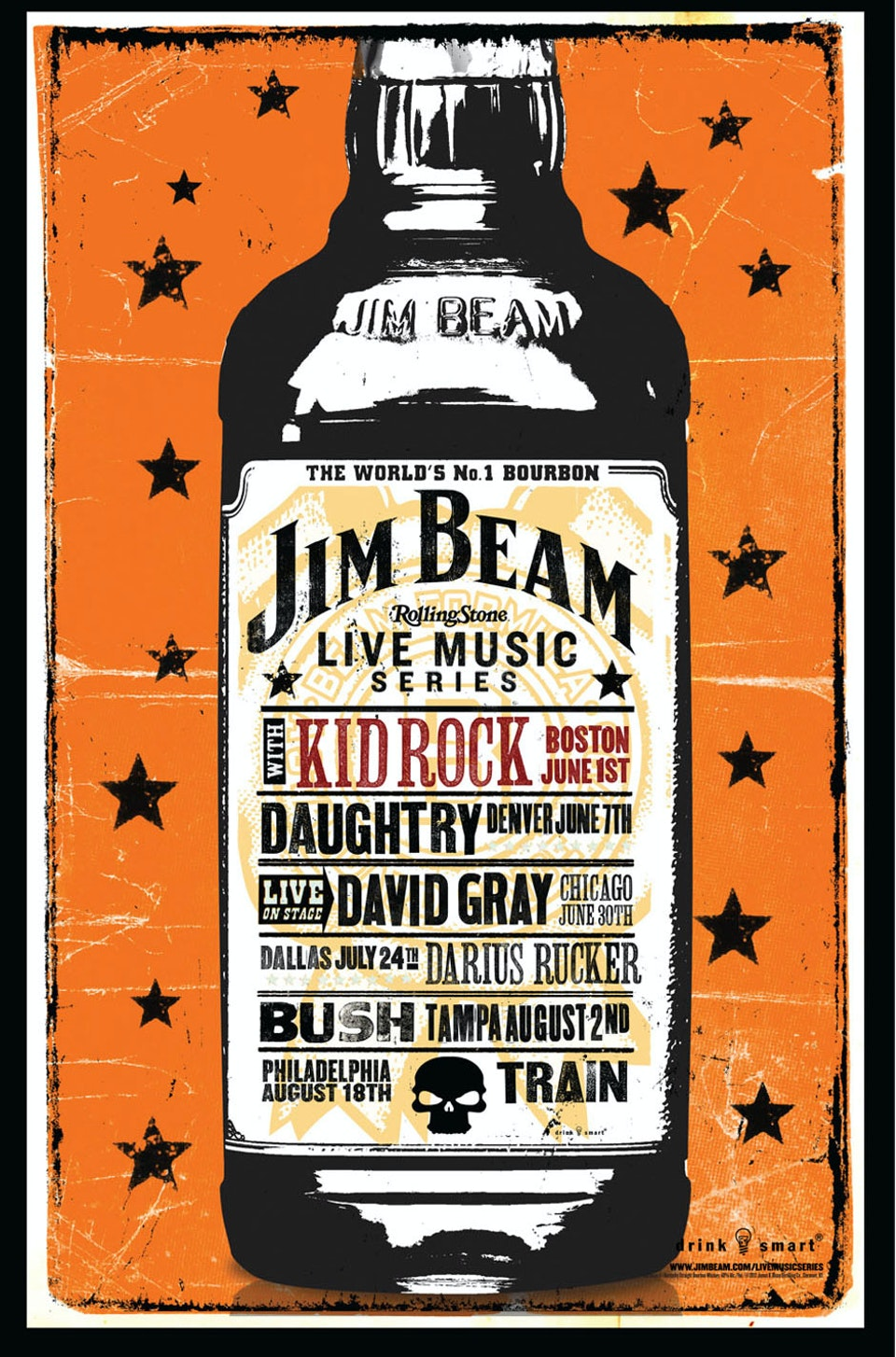 Jim Beam Concert Series Poster - A selection of comps
