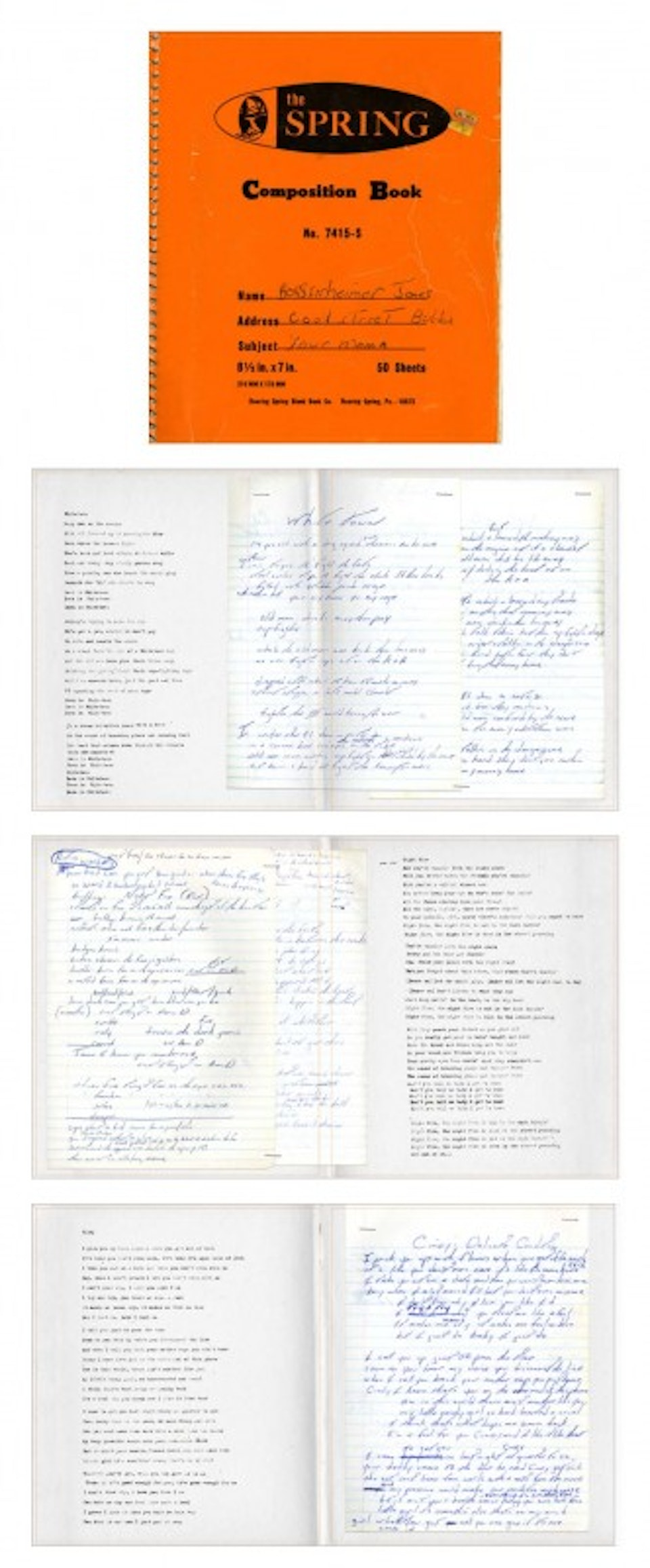 The River Set Box - Sample spreads from lyric book