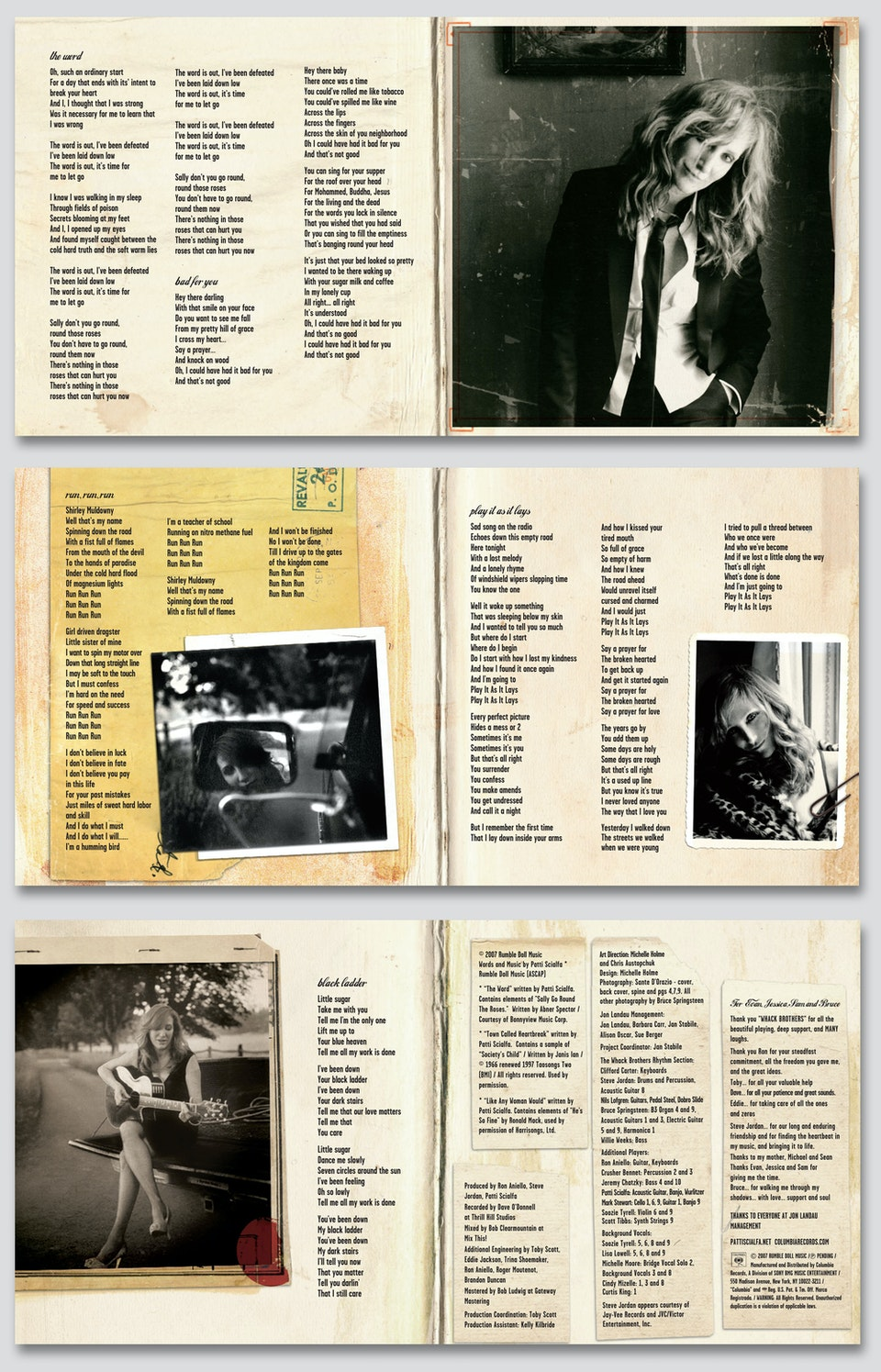 Play It As It Lays - Booklet spreads