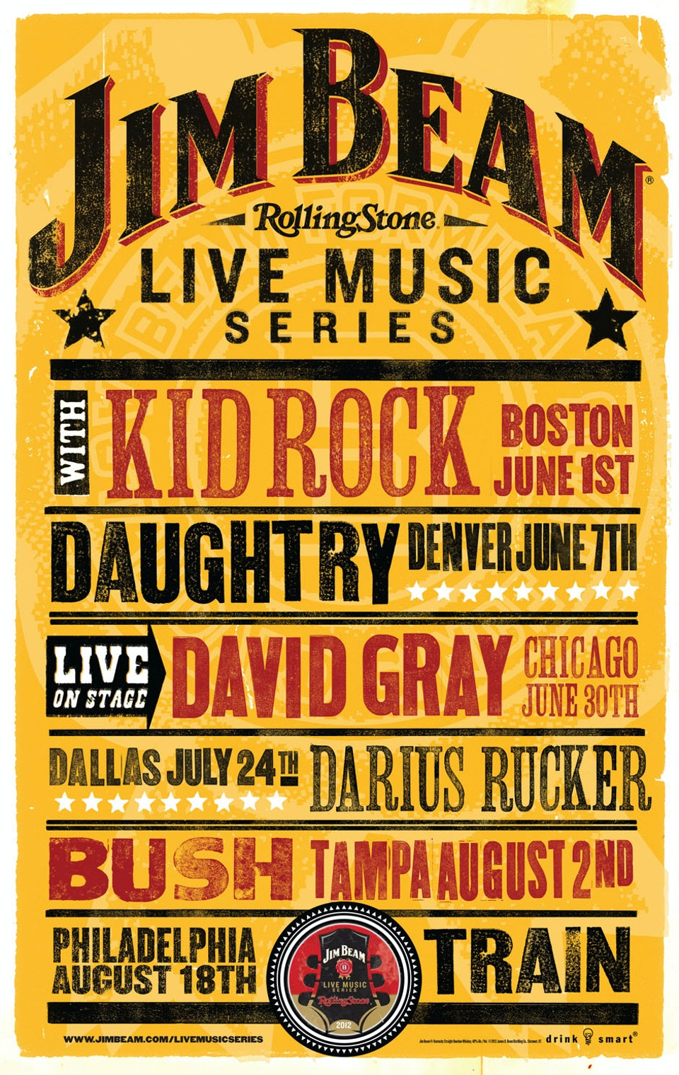 Jim Beam Concert Series Poster - Final poster