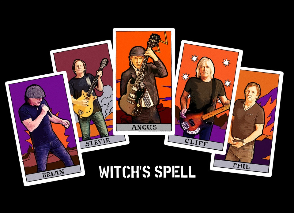 AC/DC WItch's Spell picture disc and tees