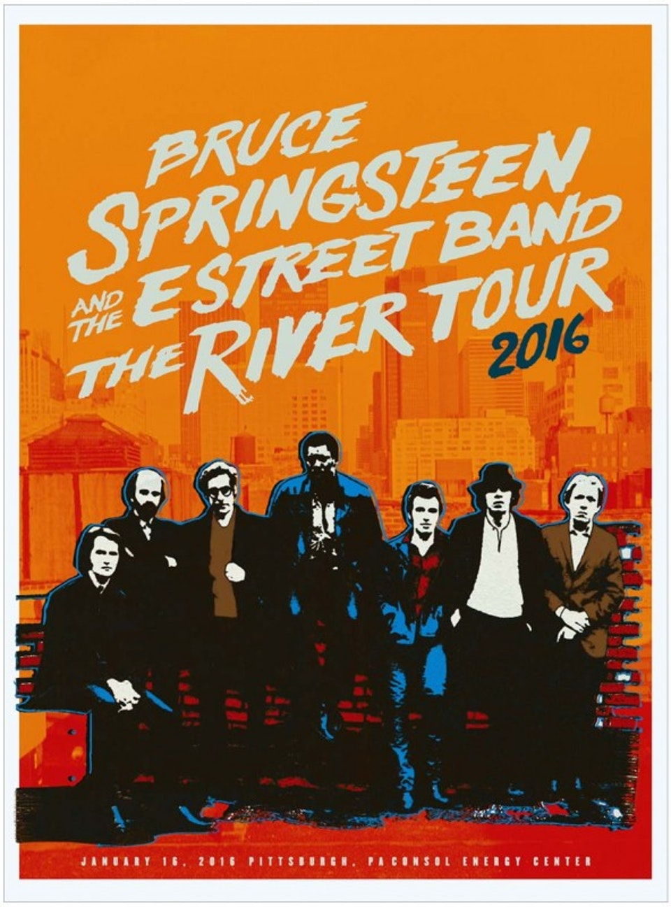 The River Tour Posters - Gig poster for the Pittsburgh show