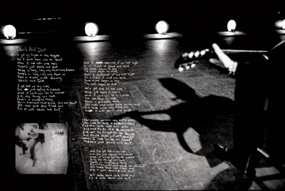 Devils & Dust Tour - Tour book spread