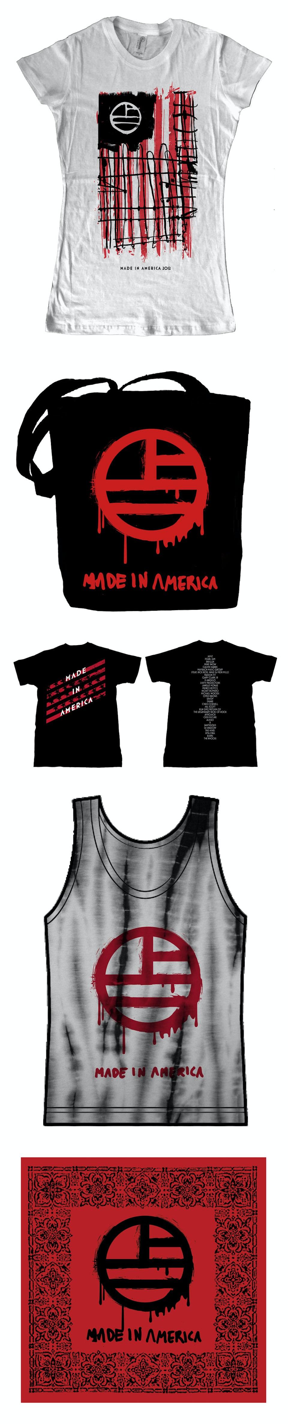 Merch for Made in America festival