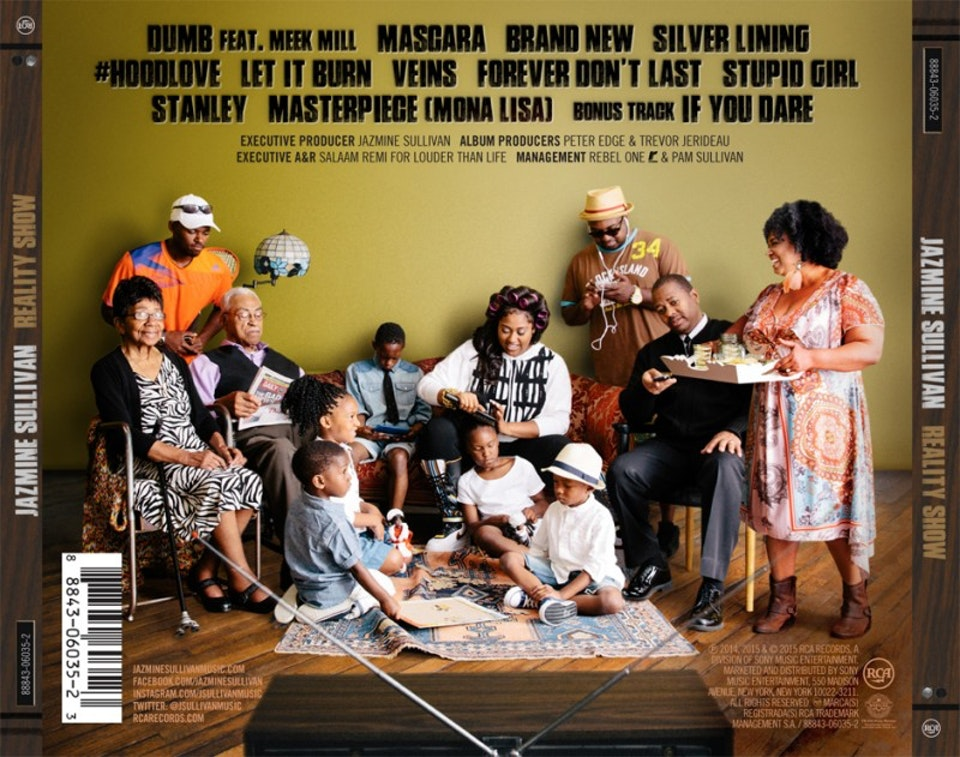 Jazmine Sullivan Reality Show - Packaging with family portrait composite