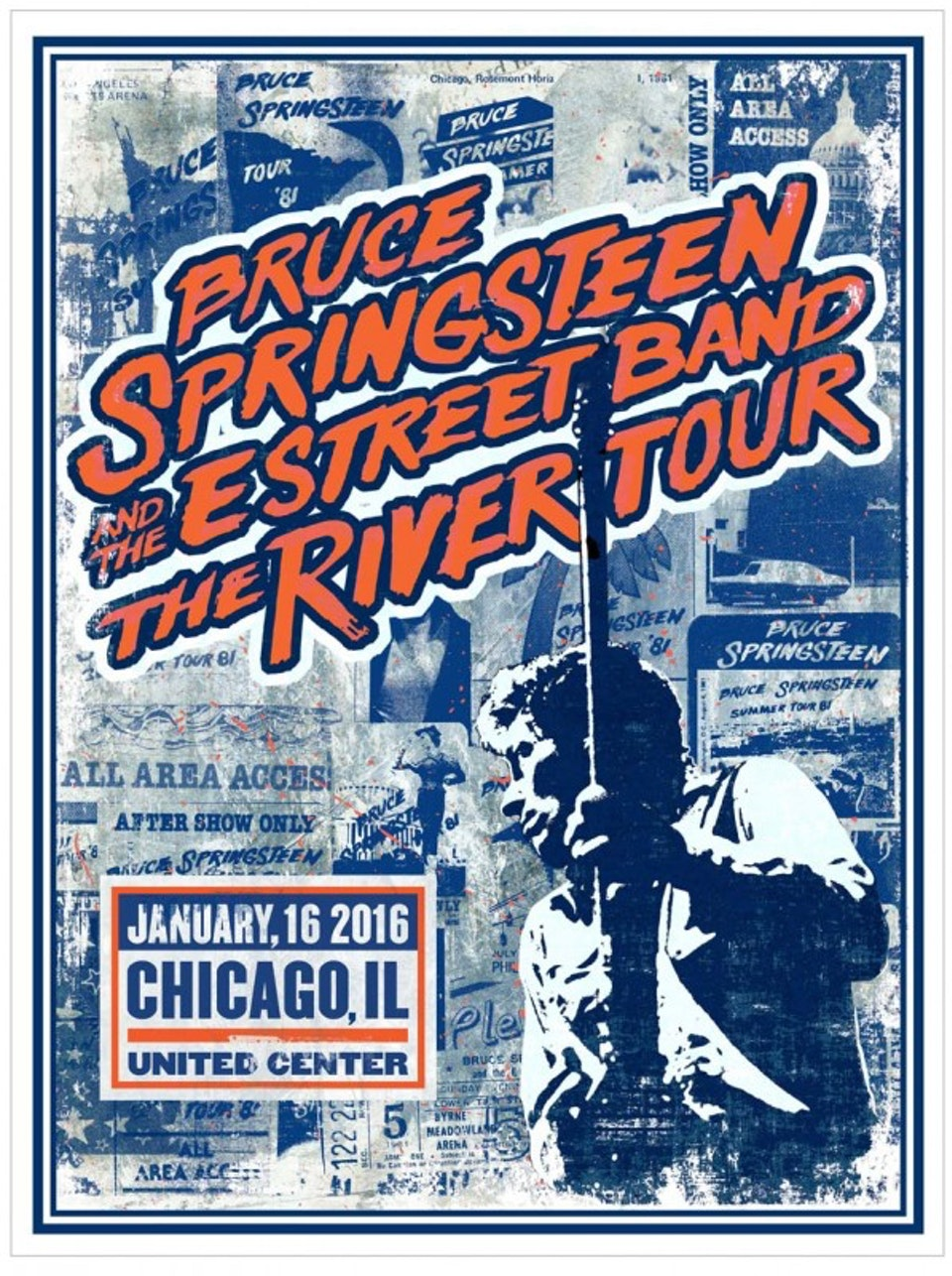 The River Tour Posters - Gig poster for the Chicago show