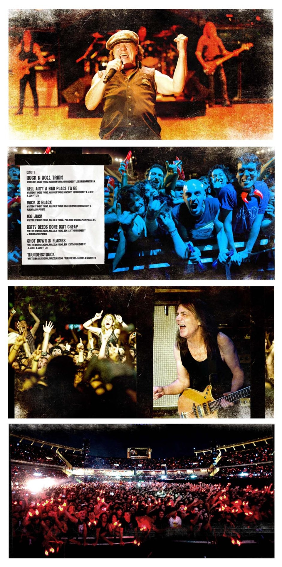 AC/DC - Booklet layouts