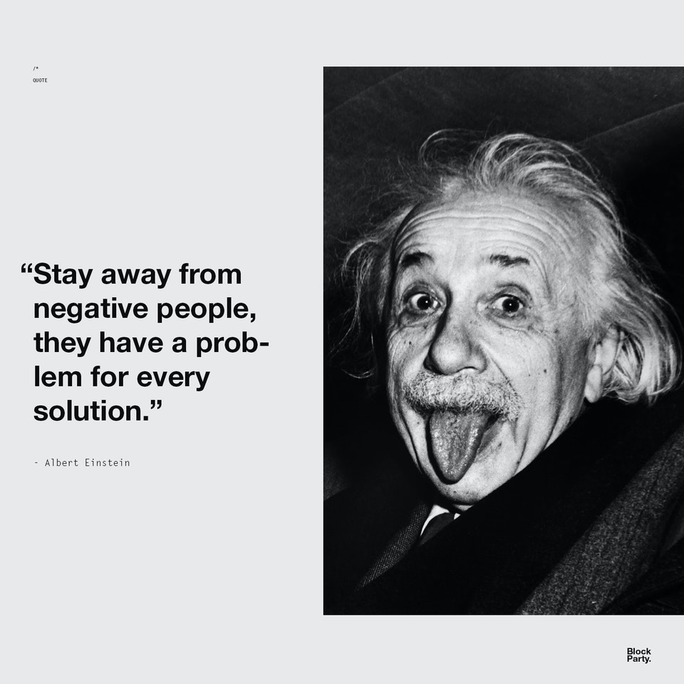 Stay away from negative - QUOTE + PHOTO
