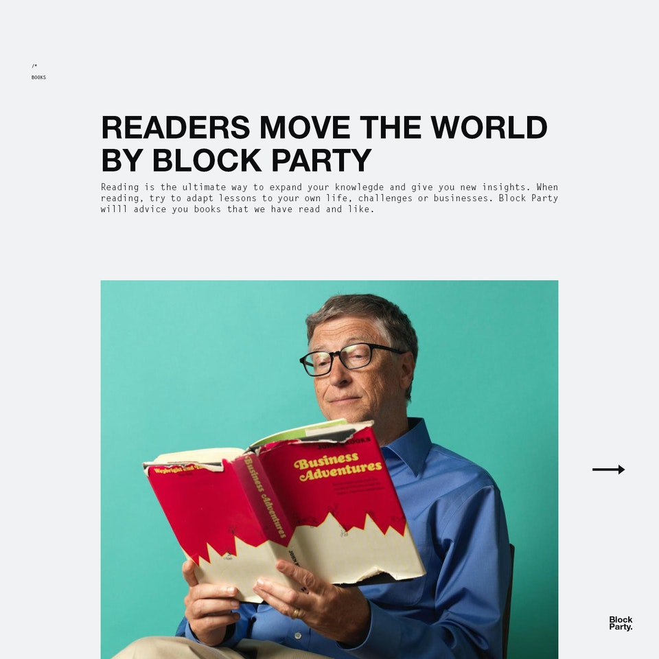 Readers move the World - Cover