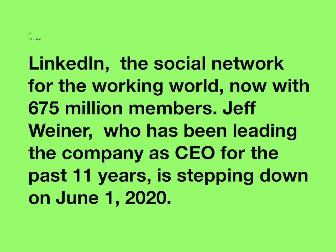 MOCK UP - LinkedIn Jeff Weiner SLIDE