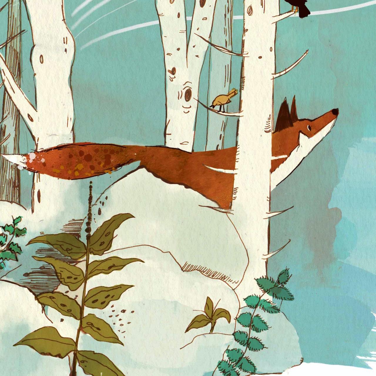 The Homesick Fox, picture book.