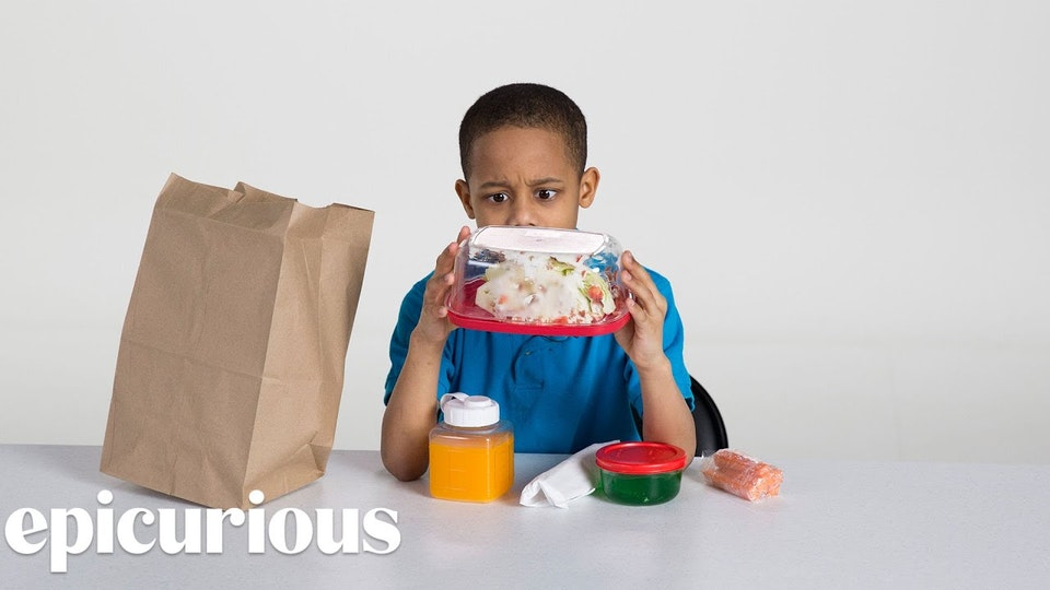 Kids Try 100 Years of Brown Bag Lunches (Condé Nast Entertainment)