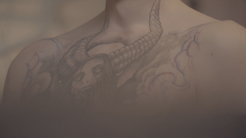 My son's tattoo adventure...making of