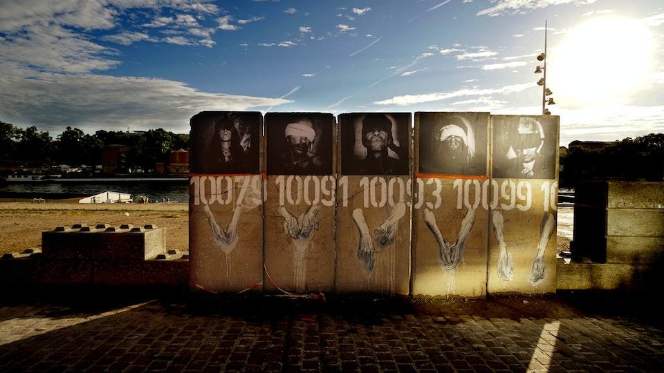 Le mur des condamnés.