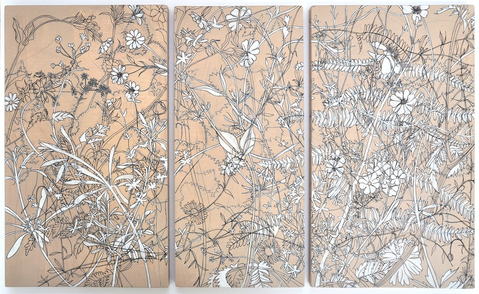 Pink Meadowtriptych