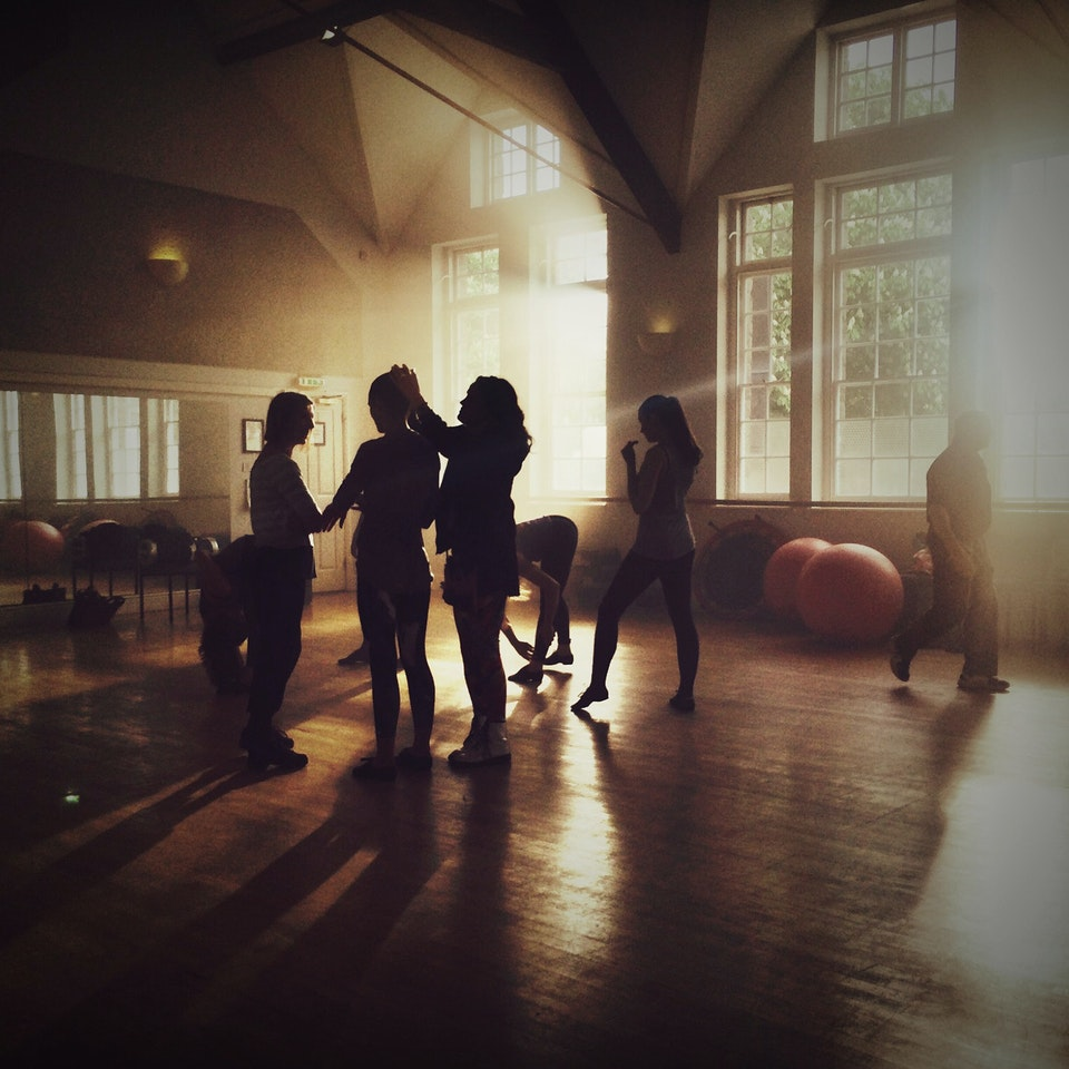 Lifestyle - Dancers & Production crew on set of Samsung Commercial