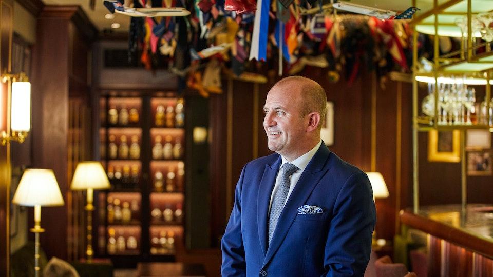 Portraits - Stuart Proctor (The Stafford) - Photographed for BA Business Life Magazine / Cedar Content