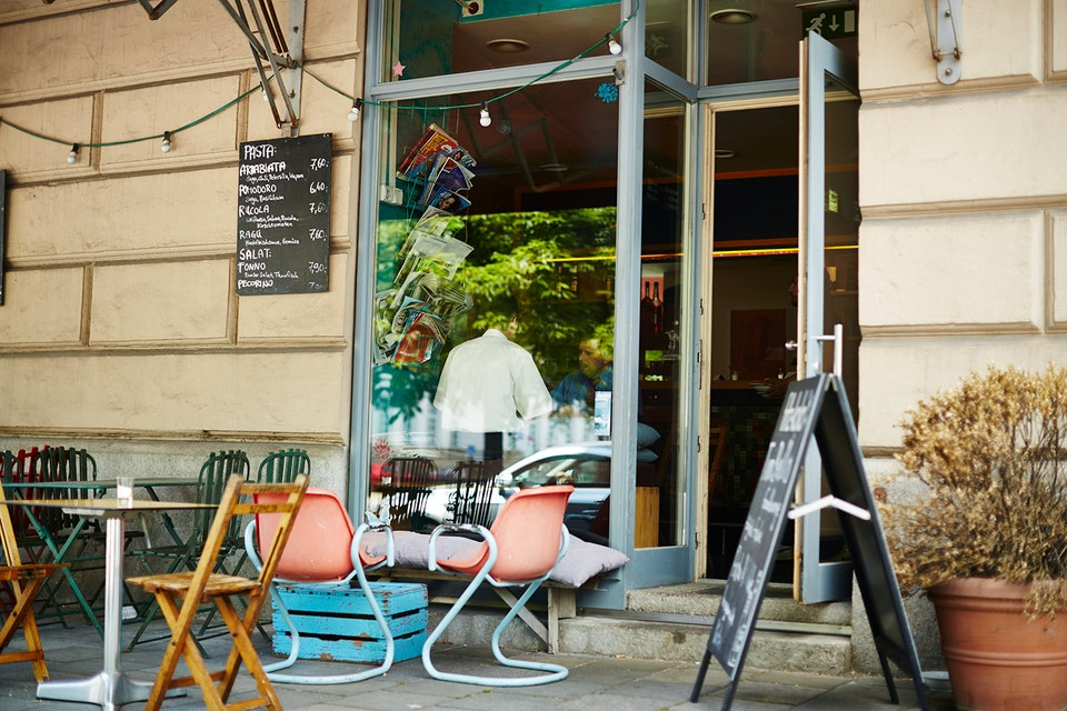 Lifestyle - Munich Cafe by day - Photographed for Topdeck Travel