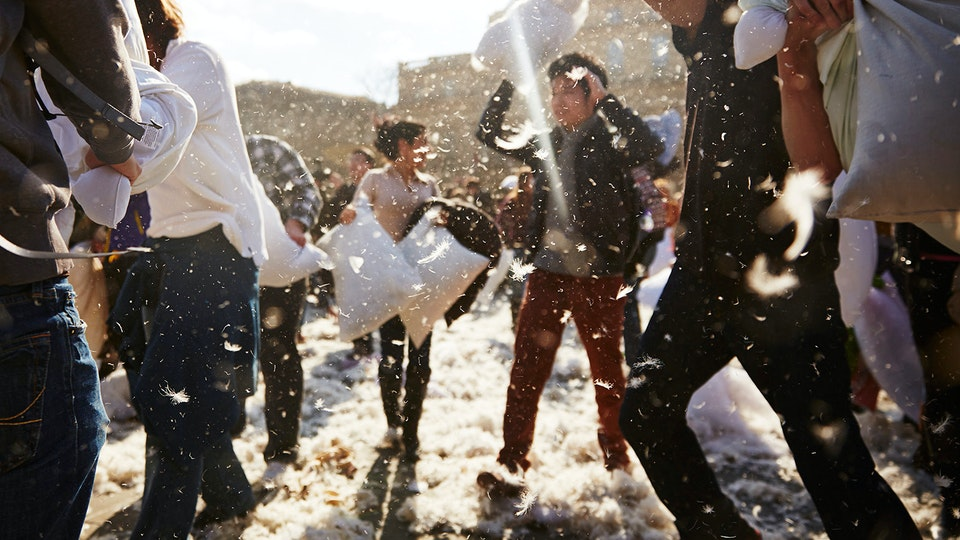 Lifestyle - International Pillow Fight Day - Trafalgar Square