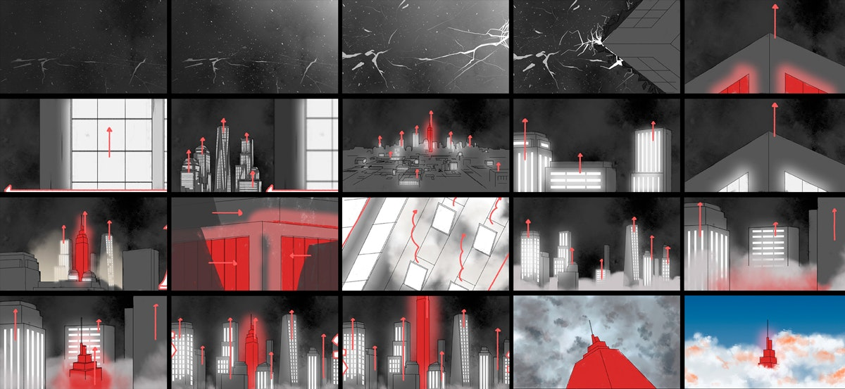 3D animation storyboard