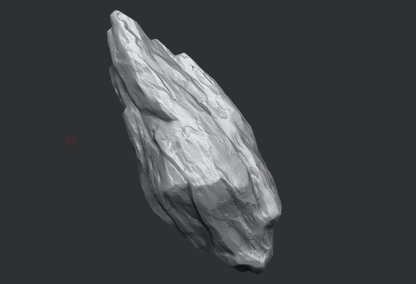 3D model of a rock
