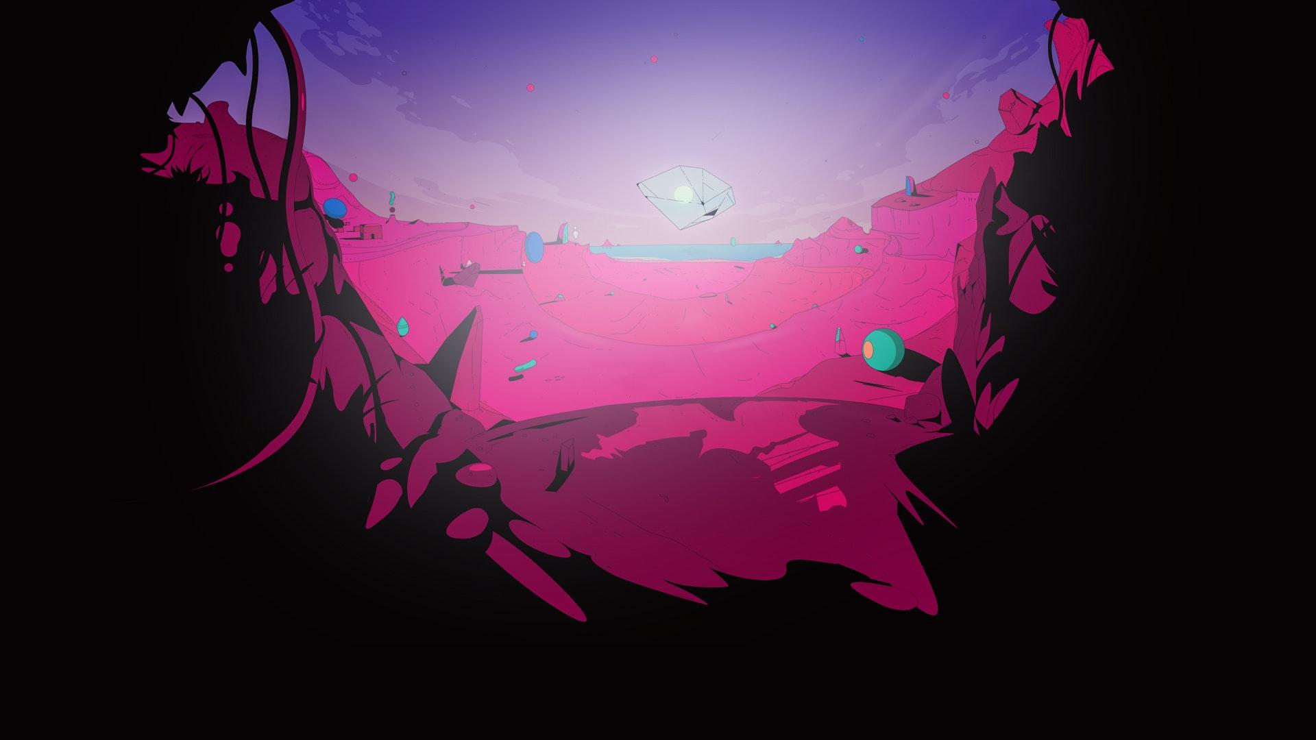 Concept illustration of a surrealist landscape